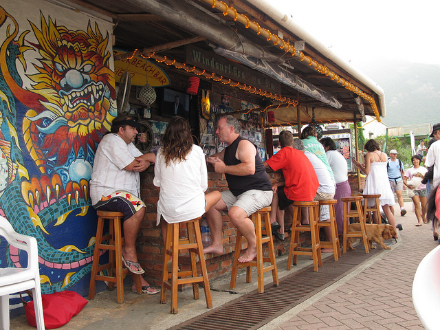 Travel Guide | Ben's Back Beach Bar at Shek O - Drinking ... Relaxing Dogs